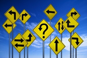 Confusing Directional Signs --- Image by © Kulka/Corbis
